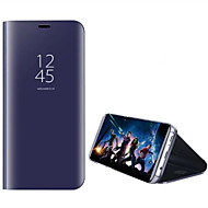 voordelige Galaxy S-serie hoesjes / covers-hoesje Voor Samsung Galaxy S8 Plus S8 met standaard Beplating Spiegel Flip Auto Slapen/Ontwaken Volledig hoesje Effen Kleur Hard PC voor