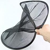丸い形の折りたたみ式の黒い網状の車の後部窓日陰遮蔽(2個