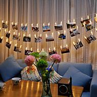 رخيصةأون -بريلونغ 3 متر ليد صورة كليب سلسلة ضوء بطارية بالطاقة الدافئة الأبيض الأبيض رغب