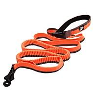 お買い得  -犬 リード アンチスリップ 反射 高通気性 安全用具 ソリッド メッシュ ナイロン ブラック オレンジ イエロー レッド