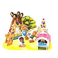 preiswerte Spielzeuge & Spiele-3D - Puzzle Holzpuzzle Modellbausätze Berühmte Gebäude Schiff Piratenschiff Seeräuber Heimwerken Hartkartonpapier Klassisch Anime