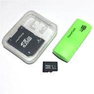 Недорогие Карты памяти-32-гигабайтная карта microfdhc tf с USB-кард-ридером и адаптером sdhc sd