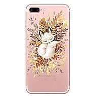 Недорогие Кейсы для iPhone 8-Кейс для Назначение Apple iPhone X / iPhone 8 Прозрачный / С узором Кейс на заднюю панель Кот Мягкий ТПУ для iPhone 8 Pluss / iPhone 8