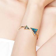 Γυναικεία Χειροπέδες Βραχιόλια Κοσμήματα Φιλία Μοντέρνα ταινία Κοσμήματα Υποαλλερικό Επιχρυσωμένο Ανοξείδωτο ατσάλι Κράμα Triangle Shape