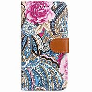 Para iPhone X iPhone 8 iPhone 8 Plus Carcasa Funda Cartera Soporte de Coche con Soporte Flip Diseños Magnética Cuerpo Entero Funda Flor