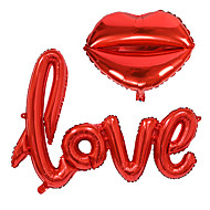 abordables Décoration de Fête-2pcs / set petite lettre d'amour feuille de papier ballon décoration de mariage