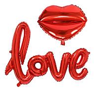 billiga Festdekoration-2st / set små kärleksbrev foil ballong bröllopsfest dekoration
