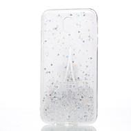 Недорогие Чехлы и кейсы для Galaxy J-Кейс для Назначение SSamsung Galaxy J7 (2017) J5 (2017) J3 (2017) Прозрачный С узором Кейс на заднюю панель Эйфелева башня Мягкий Силикон