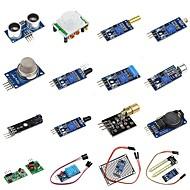お買い得  Arduino 用アクセサリー-diy 16 in 1ラズベリーパイのセンサーモジュールキット