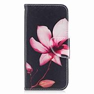Недорогие Кейсы для iPhone 8 Plus-Кейс для Назначение Apple iPhone X iPhone 8 Бумажник для карт Кошелек со стендом Чехол Цветы Твердый Кожа PU для iPhone X iPhone 8 Pluss