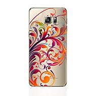fodral Till Samsung Galaxy S8 Plus S8 Genomskinlig Mönster Skal Blomma Mjukt TPU för S8 Plus S8 S7 edge S7 S6 edge plus S6 edge S6 S5 S4