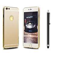 Недорогие Кейсы для iPhone 8-Кейс для Назначение Apple iPhone X iPhone 8 Защита от удара Покрытие Зеркальная поверхность Кейс на заднюю панель Сплошной цвет Твердый