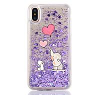 Назначение iPhone X iPhone 8 Чехлы панели Движущаяся жидкость Прозрачный С узором Задняя крышка Кейс для Мультипликация Слон Твердый