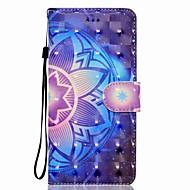 Недорогие Чехлы и кейсы для Galaxy Note-Кейс для Назначение SSamsung Galaxy Note 8 Бумажник для карт Кошелек со стендом Флип Магнитный С узором Чехол Мандала Твердый Кожа PU для