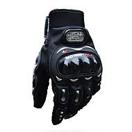abordables Guantes para Moto-pro-biker full finger moto airsoftsports montar carreras guantes tácticos auto motor protección ciclismo deporte guantes mcs-01c negro