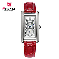 CHENXI® Žene Sat uz haljinu Modni sat Kineski Kvarc Koža Grupa Šarm Cool Neformalno Crna Crvena Smeđa