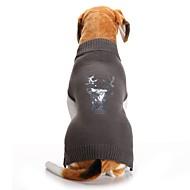 Kot / Psy Płaszcz / Sweter Ubrania dla psów Renifer Szary Spandeks / Mieszanka Bawełny i Lnu Kostium Dla zwierząt domowych Impreza / Cosplay / Codzienne