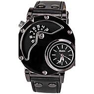 Недорогие Фирменные часы-Oulm Муж. Спортивные часы Кварцевый Повседневные часы Cool Кожа Группа Аналого-цифровые На каждый день Мода Нарядные часы Черный - Черный Один год Срок службы батареи / SSUO LR626