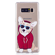 Недорогие Чехлы и кейсы для Galaxy Note 8-Кейс для Назначение SSamsung Galaxy Note 8 Прозрачный С узором Кейс на заднюю панель С собакой Мягкий ТПУ для Note 8