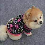 お買い得  ペット用品 & アクセサリー-犬 スウェットシャツ 犬用ウェア 幾何学的な ブラック パープル フクシャ フリース コスチューム ペット用 カジュアル/普段着