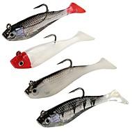 お買い得  釣り用アクセサリー-4 個 ソフトベイト プラスチック 海釣り ベイトキャスティング スピニング ジギング 川釣り 一般的な釣り ルアー釣り