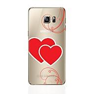 Кейс для Назначение SSamsung Galaxy S8 Plus S8 Прозрачный С узором Задняя крышка С сердцем Мягкий TPU для S8 S8 Plus S7 edge S7 S6 edge