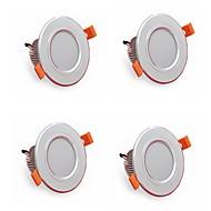 4 stk 5w 500lm ledet downlights lamper 3000k / 4000k / 6500k led lampe til hjem og kontor ac85-265v