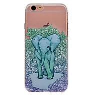 Недорогие Кейсы для iPhone 8 Plus-Кейс для Назначение Apple iPhone X iPhone 8 С узором Кейс на заднюю панель Цветы Слон Животное Мягкий ТПУ для iPhone X iPhone 8 Pluss