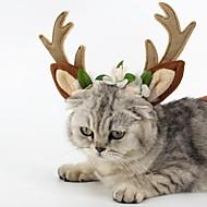 Cica Kutya Ékszerek Kutyaruházat Party Szerepjáték Karácsony Rénszarvas Barna Jelmez Háziállatok számára