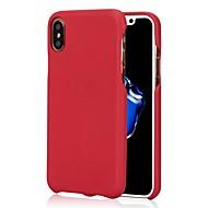 Назначение iPhone X iPhone 8 iPhone 8 Plus Чехлы панели Ультратонкий Матовое Задняя крышка Кейс для Сплошной цвет Мягкий Искусственная