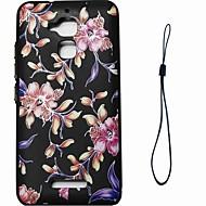 お買い得  携帯電話ケース-ケース 用途 Asus パターン バックカバー フラワー ソフト TPU のために Asus Zenfone 3 Max ZC520TL