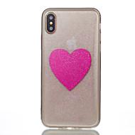 Назначение iPhone X iPhone 8 iPhone 8 Plus Чехлы панели Полупрозрачный С узором Задняя крышка Кейс для С сердцем Мягкий Силикон для Apple
