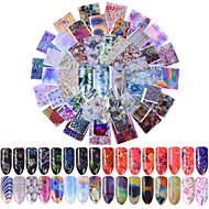 preiswerte -80 Nagel-Kunst-Aufkleber Muster Zubehör Art déco/Retro 3-D Karton Bastelmaterial Aufkleber Make-up kosmetische Nagelkunst Design