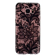 hoesje Voor Samsung Galaxy S8 Plus S8 IMD Transparant Patroon Achterkantje Lace Printing Zacht TPU voor S8 S8 Plus S7 edge S7 S6 edge S6