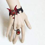 Női Gyűrű karkötők utánzás Ruby Állati Ötvözet Oval Shape Ékszerek Kompatibilitás Parti Halloween