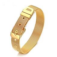 お買い得  -男性用 幾何学模様 チェーン&リンクブレスレット  -  シンプルなスタイル ブレスレット ゴールド / シルバー 用途 日常