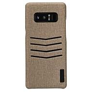Кейс для Назначение SSamsung Galaxy Note 8 Бумажник для карт Матовое Задняя крышка Сплошной цвет Твердый Искусственная кожа для Note 8