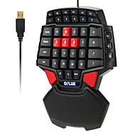 billige Tastaturer-delux t9 47-nøgle professionel single-hand kablet esport gaming keyboard 3-levelbacklit
