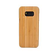 Недорогие Чехлы и кейсы для Galaxy S8-Кейс для Назначение SSamsung Galaxy S8 Plus S8 Защита от удара Кейс на заднюю панель Имитация дерева Твердый Бамбук для S8 Plus S8