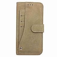 Недорогие Чехлы и кейсы для Galaxy Note 8-Кейс для Назначение SSamsung Galaxy Note 8 Бумажник для карт Кошелек со стендом с окошком Флип Магнитный Чехол Сплошной цвет Твердый Кожа
