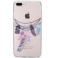 Na iPhone 7 iPhone 7 Plus Etui Pokrowce Stras Ultra cienkie Przezroczyste Wzór Etui na tył Kılıf Łapacz snów Miękkie Poliuretan