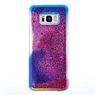 Недорогие Чехлы и кейсы для Galaxy S8-Кейс для Назначение SSamsung Galaxy S8 Plus S8 Движущаяся жидкость Кейс на заднюю панель Сияние и блеск Мягкий ТПУ для S8 Plus S8 S7 edge