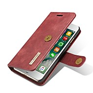For iPhone 7 Case Cover Wallet Card Holder Flip Magnetic Full Body Case Solid Color Hard Genuine Leather for Apple iPhone 7 Plus iPhone 7