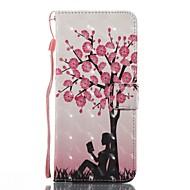 Недорогие Чехлы и кейсы для Galaxy S7 Edge-Кейс для Назначение SSamsung Galaxy S8 Plus S8 Бумажник для карт Кошелек со стендом Флип С узором Чехол дерево Твердый Кожа PU для S8