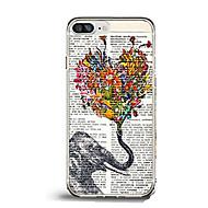 Назначение iPhone X iPhone 8 Чехлы панели Ультратонкий С узором Задняя крышка Кейс для Бабочка С сердцем Слон Мягкий Термопластик для