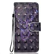 Недорогие Чехлы и кейсы для Galaxy Note 8-Кейс для Назначение SSamsung Galaxy Note 8 Бумажник для карт Кошелек со стендом С узором Чехол Животное Твердый Кожа PU для Note 8