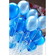 billiga Festdekoration-20 st / luftballonger latex 10 tums solid färg uppblåsbar cirkulär ballong