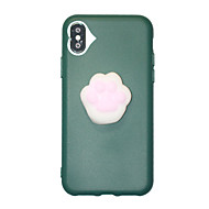 abordables Novedades-Funda Para Apple iPhone X iPhone X iPhone 8 iPhone 8 Plus Blando Funda Trasera Dibujo 3D Suave TPU para iPhone X iPhone 8 Plus iPhone 8