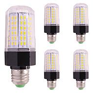 お買い得  LED コーン型電球-5pcs 9W 850 lm LEDコーン型電球 E27 / E14 112 LEDの SMD 5730 温白色 クールホワイト AC85-265
