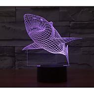 abordables Lámparas LED Novedosas-1 juego Luz nocturna 3D USB Batería Color variable Decorativa